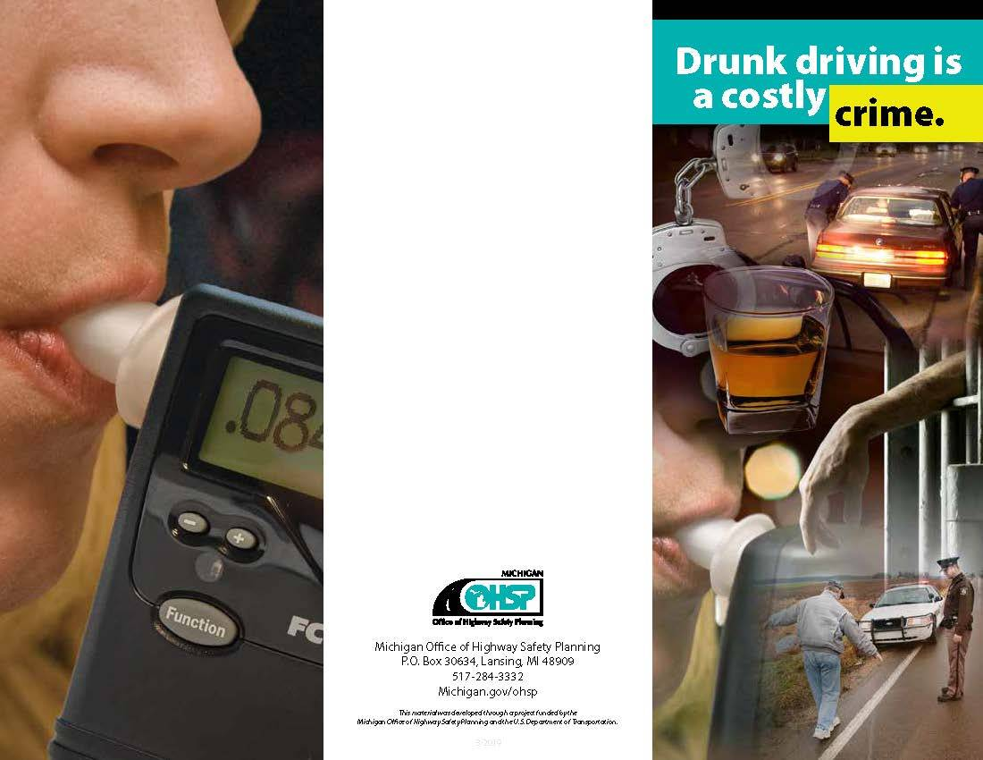 Photo of the Michigan Office of Highway Safety Planning brochure on drunk driving